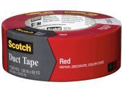 3M 3641-1643 3m 1.88 X 60 Yards Red Scotch Duct Tap