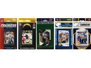 C and I Collectables CHARGERS511TS NFL San Diego Chargers 5 Different Licensed T