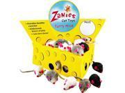 Zanies TP20116 Cheese Wedge Cat Toy Display 60 Fur Mice