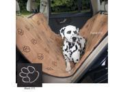 Cruising Companion US6877 17 Cruising Com PawPrint Hammock Car Seat Cover Black