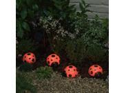 Smart Solar 3656MRM4 Solar Ladybugs 4 Piece Set