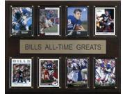 C and I Collectables 1215ATGBILL NFL Buffalo Bills All Time Greats Plaque