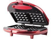 Brentwood TS-244 Red Waffle Maker