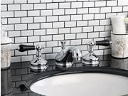 Kingston Brass KS1161PKL Heritage Onyx Widespread Lavatory Faucet With Black Por