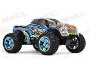 1/10 2.4Ghz Exceed RC Infinitve Nitro Gas Powered RTR Off Road Monster 4WD Truck Stripe Blue