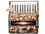 Rossetti Beginner Piano Accordion 12 Bass 25 Keys Red