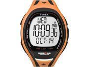 Timex Men's Ironman T5K254 Orange Resin Quartz Watch with Grey Dial