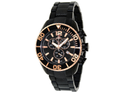 Swiss Precimax Men's Deep Blue Pro II SP12173 Black Stainless-Steel Swiss Chronograph Watch with Gold Dial