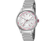 Puma Women's Motor PU102742006 Silver Stainless-Steel Quartz Watch with Silver Dial