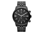 Fossil Townsman Chronograph Black Dial Black-plated Mens Watch FS4787