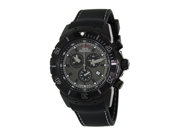 Swiss Precimax SP13282 Men's Pursuit Pro Sport Black Silicone Swiss Chronograph Watch with Grey Dial