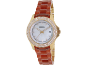 Fossil Women's Retro Traveler AM4473 Red Plastic Quartz Watch with White Dial