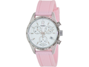 Timex Women's Kaleidoscope T2P063 Pink Rubber Analog Quartz Watch with White Dial