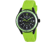 Timex Men's Sport T2P025 Green Rubber Analog Quartz Watch with Black Dial
