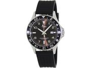 Timex Men's Sport T2P029 Black Silicone Analog Quartz Watch with Black Dial