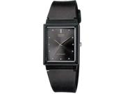 Casio Men's MQ38-1A Black Resin Analog Quartz Watch with Black Dial