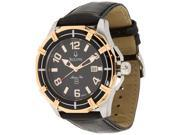 Bulova Sport Marine Star 98B154 Men's Black Dial Leather Quartz Analog Watch