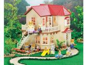 Calico Critters Townhome with lights