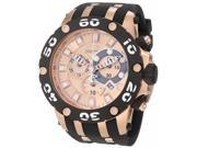 Invicta 0919 Men's Reserve Specialty Subaqua Rose Gold Dial Chronograph Rubber S