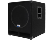 """Seismic Audio - Baby-Tremor_PW - Powered 15"""" Pro Audio Subwoofer Cabinet - 300 Watts RMS - PA/DJ Stage, Studio, Live Sound Active 15 Inch Subwoofer"""