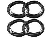 Seismic Audio - 4 Pack - 5 Pin MIDI Cable 20 Feet - Metal Headshell