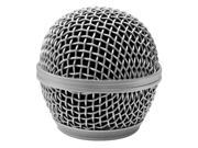 Seismic Audio - Sa-m30grille-silver - Replacement Silver Steel Mesh Microphone Grill Head - Compatible With Sa-m30, Shure Sm58, Shure Sv100 And Similar
