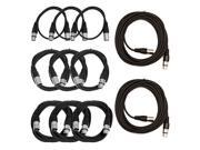 Seismic Audio - XLR-Patch-Cable-Kit - XLR Patch Cable Pro Audio / DJ Crash Kit - XLR Patch Cord - XLR Mic Cord Package