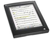 This easy to use sheet music reader in a handy tablet size lets you store your entire digital sheet music library. Easily scans and converts existing sheet music, and you can also download over 95,000 digital scores already formatted for MusicPad Pro directly from freehandmusic.com. Mac and PC compatible. Features include: allows you to annotate in color directly on the music page via a virtual keyboard  high resolution (1024 x 768), low glare touch screen  12.1″ TFT LCD back-lit color display eliminates need for external music stand lighting  64MB Flash memory, 128MB RAM  AC power and rechargeable battery  two USB ports  half-page turn option for look-ahead viewing in portrait mode  two-page display in landscape mode  audio player for MIDI  and more! Size: 13.3″ x 9.9″ x 1.8″ (just over 4 lbs.)