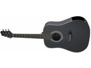 Stagg SW2013-4LHBK Guitar Acoustic 3/4 Dreadnought Black Left Hand