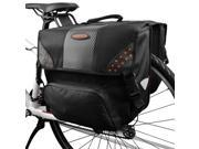 Ibera Bike Side-Mounting Pannier Set, Multi-Compartments, Slit on Top to Mount on Smaller Racks