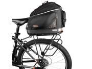 Ibera PakRak Clip-On Quick-Release Commuter Bag and PakRak Touring Carrier Rack Plus+ Combo - Cycling Rear Storage, Frame-Mounted, Outdoors - IB-BA1-RA4