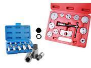 Capri Tools Auto Disc Brake Caliper Wind Back Tool Kit with XZN Triple Square Spline Wrench Bit Socket Set (10-Piece)