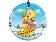Looney Tunes Tweety Skating Hanging Glass Print