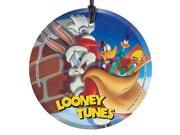 Looney Tunes Santa Bugs Bunny Hanging Glass Print