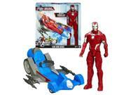 Avengers Assemble Iron Man Figure with Battle Racer Vehicle 9SIA0421RY2469