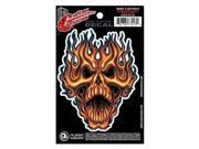 Planet Waves Guitar Tattoo  - Flame Whip Skull