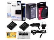 2 Pack EN-EL19 ENEL19 Battery + Charger for Nikon Coolpix S3100 S3300 S3500 S4100 S4300 S6800 S6700 S6600 S6500 S6400 S5300 S4300 S4200 S4150 S4100 S3600 S3500 S3300 S3200 S3100