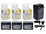 3 pc BP-718 BP718 Battery + Rapid Travel Charger for Canon VIXIA HF M50 M52 R30 R32 R40 R42 R50 R52 M500 R300 R400 R500 BP718 HFR500 R306 R36 R38 M506 M56 M52 2200 mAh
