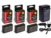 3 Pc LP-E10 LPE10 Lithium Battery + Rapid Travel Charger for Canon Rebel T3 T5 EOS 1100D 1200D EOS Rebel T5 Kiss X50 LPE10 5108B002 Camera