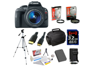 Canon EOS Rebel SL1 DSLR Camera with EF-S 18-55mm f/3.5-5.6 IS STM Lens & 32 GB Advanced Accessory Bundle