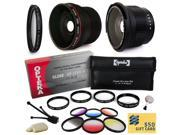 Sony A850, A3000, RX1, NEX-3, NEX-5, NEX5N, NEX-5R, NEX-7, NEX-C3, NEX-F3 DSLR Camera Accessory Kit includes Super 0.35x and 0.20X Fisheye AF Lens, UV Filter, 4 Piece Close Up Macro Lens Set and more