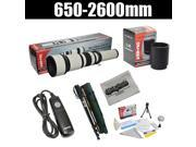 Opteka 650-2600mm High Definition Telephoto Zoom Lens with 67