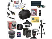 Pro Shooter Kit for Canon 6D 60D 60Da 70D & 5D Mark III Includes 64GB SDXC Card + 2 Batteries + Charger + 0.43x + 2.2x Lens + 3 Piece Filters + Gadget Bag + Tripod + DVD + $50 Gift Card + More