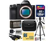 Sony a7R Full-Frame 36.4 MP Mirrorless Interchangeable Digital Lens Camera - Body Only (ILCE7R) with Amateur Accessories Bundle Kit includes 32GB Class 10 SDHC