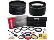 Sony DSLR Camera Filter Accessory Pack includes Opteka 0.43x Fisheye Lens, 2.2x Telephoto, 4 Piece Close Up Macro Lens Set, Vivitar 6 Piece Graduated Color Filter Set, Cleaning Set, $50 Gift Card
