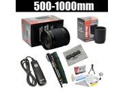"""Opteka 500-1000mm f/8 High Definition Telephoto Mirror Lens with Opteka 67"""" Monopod Kit for Sony E-Mount NEX-3, NEX-C3, NEX-F3, NEX-5, NEX-5N, NEX-5R, NEX-6 & NEX-7, NEX-VG10, NEX-VG20 DSLR Cameras"""