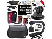 Advanced Accessories Bundle Kit for GoPro HD Hero3 Hero 3 (Black / Silver / White Edition) includes 32GB MicroSDHC SD Class 10 Memory Card + x2 Battery High Cap