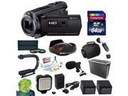 Sony HDR-PJ650 HD Camcorder with Ultimate Accessory Kit Includes - 64GB High Speed Error Free SDXC Memory Card + SD Card Reader + 58MM 3 Piece Pro Filter Kit (U