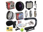All Sport Accessory Package For All Sony, JVC, Canon, Panasonic & Samsung camcorders that accept 37MM, 34MM, 30.5MM, 30MM & 25MM filters - Kit Includes 0.2X Low