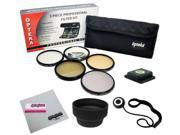 55MM Accessory Kit for SONY Alpha Series A99 A77 A65 A58 A57 A55 A390 A100 DSLR Cameras with 18-55MM Zoom Lens with Opteka 5 PC Filter Kit, Carry Pouch, Lens Hood, Cap Keeper, Cleaning Cloth and More